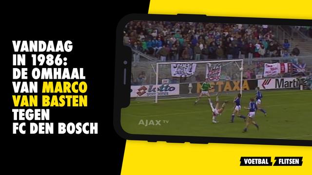 De omhaal van Van Basten tegen FC Den Bosch in 1986 tegen van grinsven