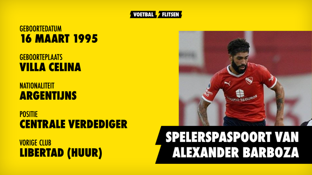 Spelersportret, profiel Alexander Barboza