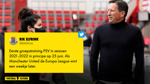 Eerste groepstraining PSV seizoen 2021/2022 is 25 juni