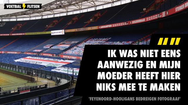 Feyenoord-hooligans bedreigen fotograaf ten onrechte