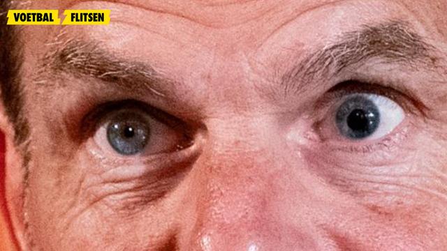 dit is wat er met het oog van frank de boer aan de hand is . pupil groter