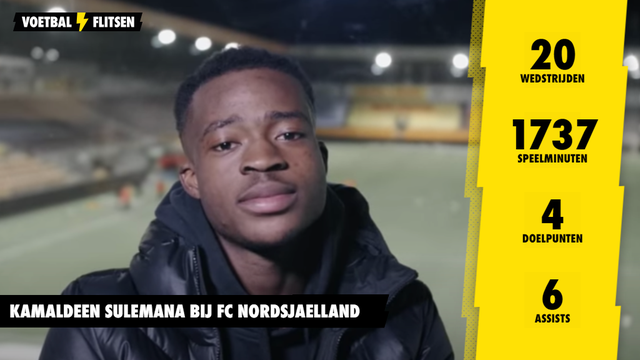 Statistieken Kamaldeen Sulemana FC Nordsjaelland wedstrijden doelpunten assists