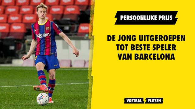Frenkie de Jong beste speler van het seizoen FC Barcelona