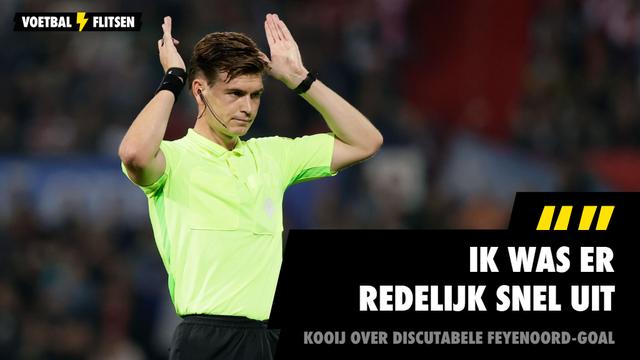 Joey Kooij scheidsrechter Feyenoord - NEC Nijmegen goal Guus Til 4-3