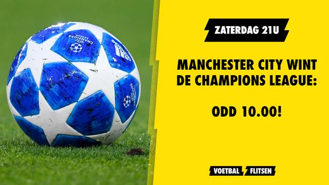 manchester city wint de champions league odd 10.00 unibet