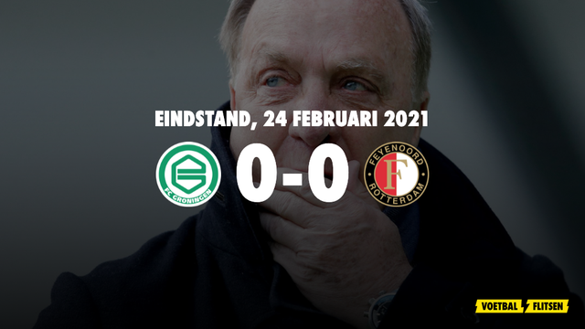 24 februari 2021: FC Groningen-Feyenoord 0-0, eredivisie speelronde 23