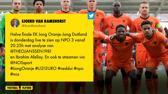 jong oranje - jong duitsland is op np3 te bekijken de nos met sjoerd van ramshorst