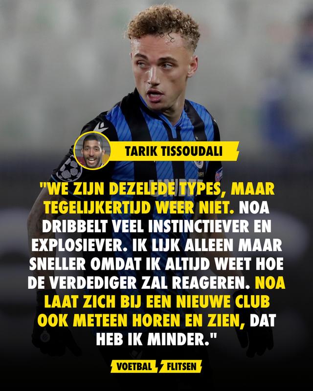 Tarik Tissoudali over Club Brugge-speler Noa Lang
