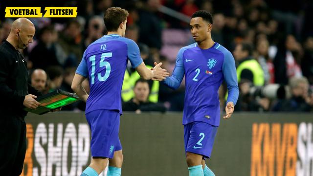 foto beelden van het debuut van guus til in het nederlands elftal