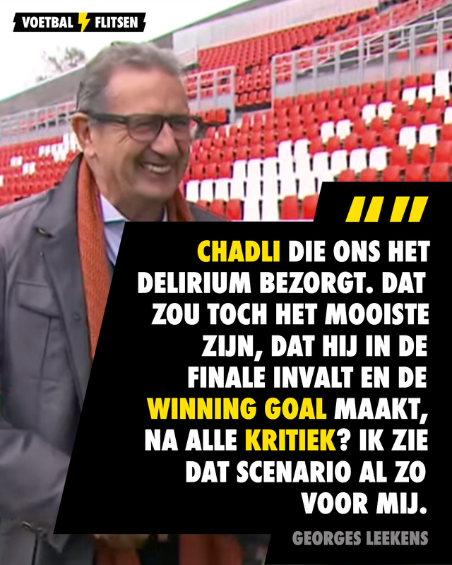 Georges Leekens ziet Chadli winning goal maken in EK-finale