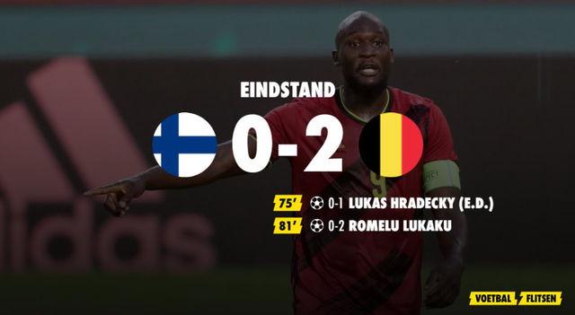 eindstand finland-belgie 0-2 ek voetbal