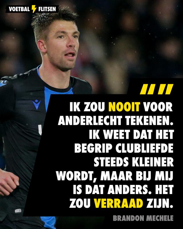 Mechele zou nooit voor Anderlecht tekenen