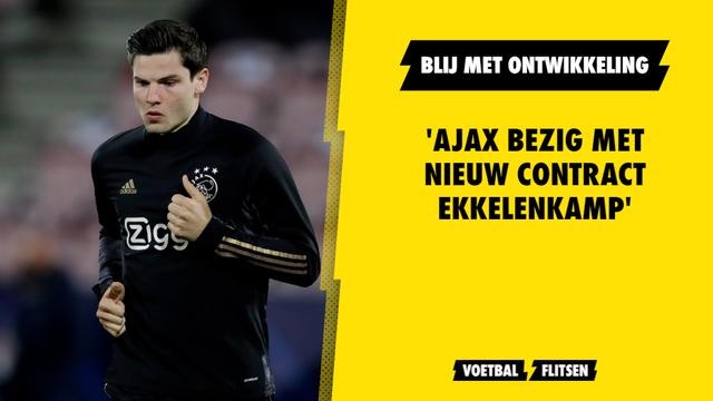 Ajax bezig met nieuw contract Ekkelenkamp