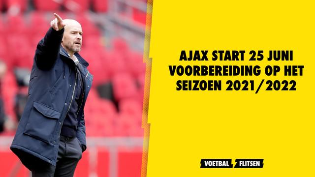 eerste groepstraining ajax seizoen 2021/2022