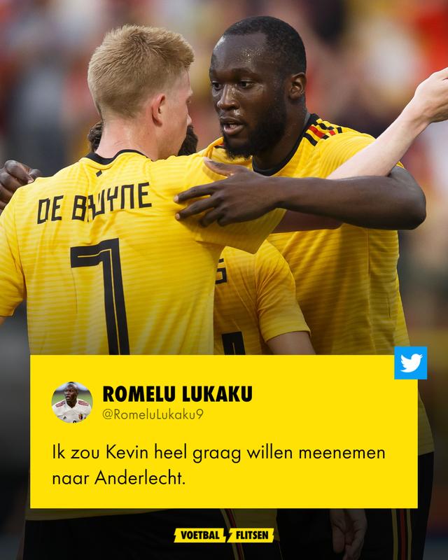 Kevin de Bruyne KDB Romelu Lukaku België anderlecht