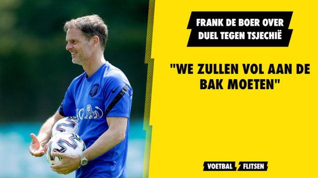 """Frank de Boer verwacht lastig duel tegen Tsjechen: """"We zullen vol aan de bak moeten"""""""