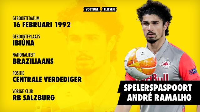 Andre Ramalho geboren in brazilie, leeftijd 29, vorige club