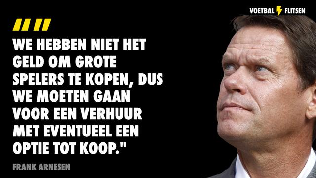 Op deze manier hoopt Feyenoord zich te versterken; frank Arnesen geeft uitleg
