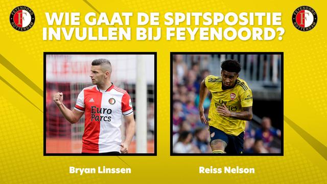 Feyenoord spitspositie Bryan Linssen Reiss Nelson
