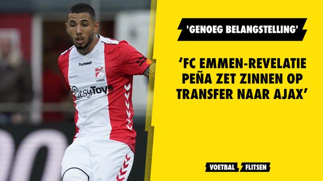 FC Emmen-revelatie Peña zet zinnen op transfer naar Ajax