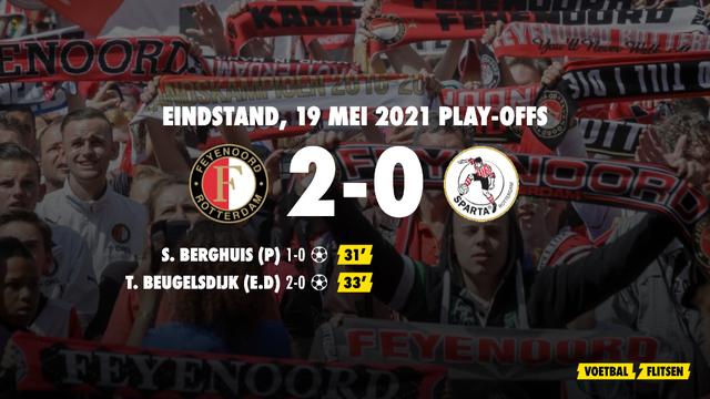 19 mei 2021: Feyenoord-Sparta 2-0, finale play-offs ivm Conference League