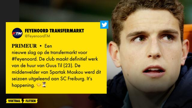 Guus Til speelt volgend seizoen bij Feyenoord
