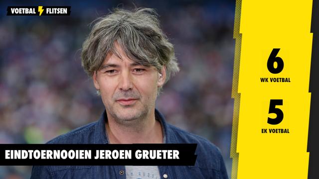 Statistieken Jeroen Grueter eindtoernooien EK en WK voetbal
