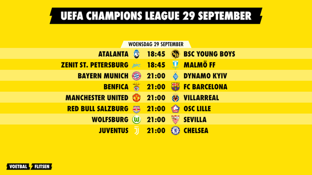 programma champions league