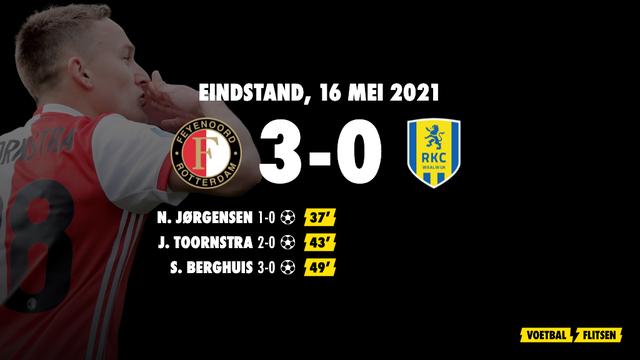 16 mei 2021: Feyenoord-RKC 3-0, eredivisie speelronde 34