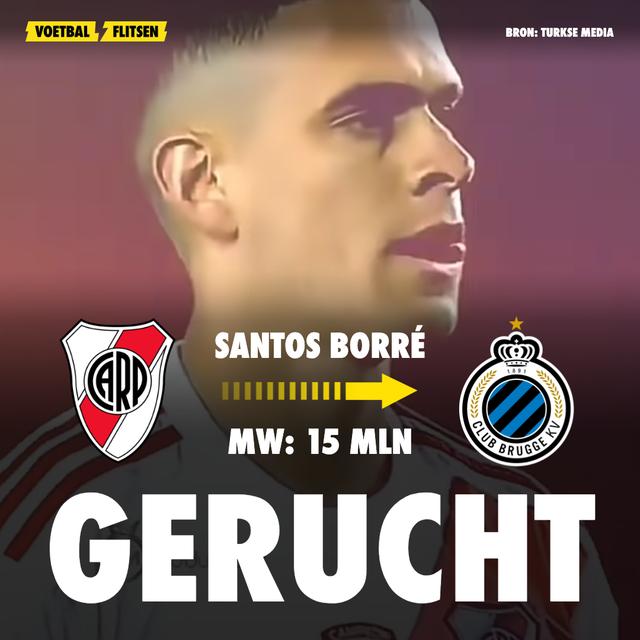 Santos Borré op verlanglijst van Club Brugge