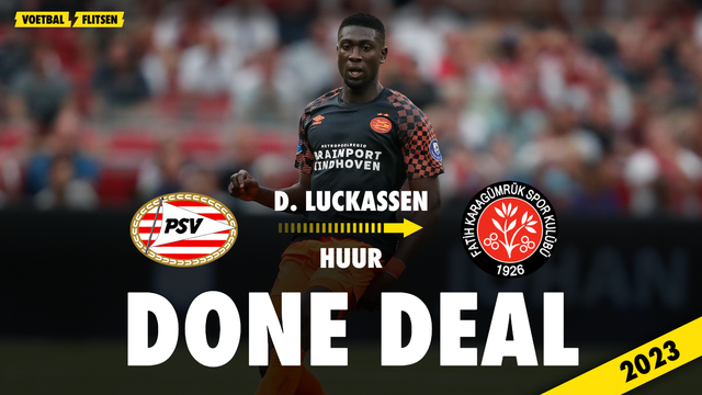 Derrick Luckassen PSV transfer huurperiode Turkije Fatih Karagümrük