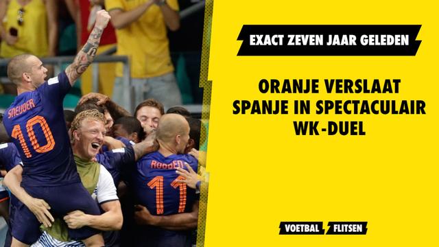 Spanje - Nederland zeven jaar geleden