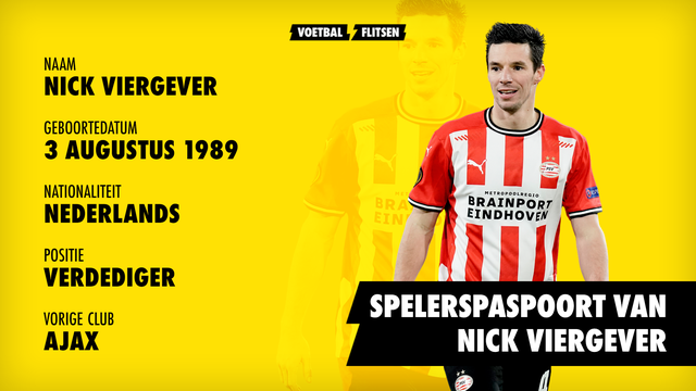 Spelerspaspoort Nick Viergever (profiel)