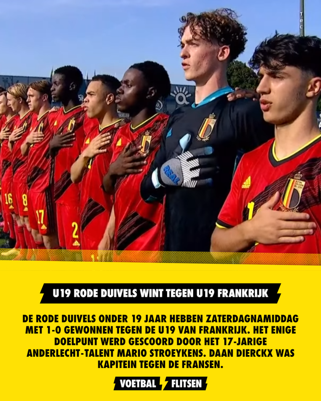 België U19 wint tegen Frankrijk U19