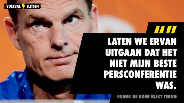 Frank de Boer blikt terug: Niet mijn beste persconferentie