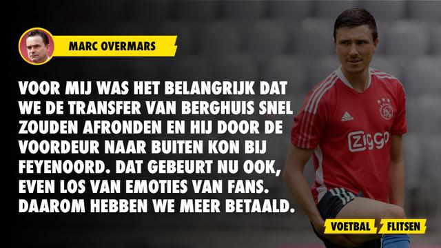 Berghuis Ajax Feyenoord Overmars