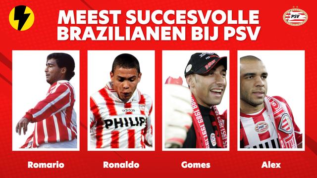 Meest succesvolle Brazilianen bij PSV romario ronaldo alex en gomes