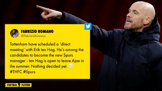 Erik ten Hag binnenkort in gesprek met Tottenham Hotspur