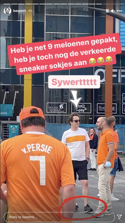 Sywert van Lienden  bezoekt wedstrijd nederlands elftal