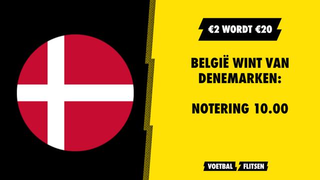 belgië wint van denemarken odd 10.00 unibet