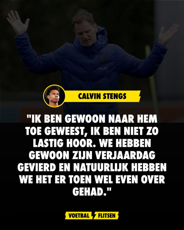 Calvin Stengs op verjaardagsvisite bij bondscoach Frank de Boer