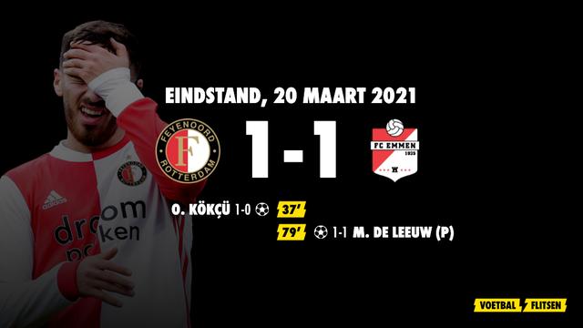 20 maart 2021: Feyenoord-FC Emmen 1-1, eredivisie speelronde 27