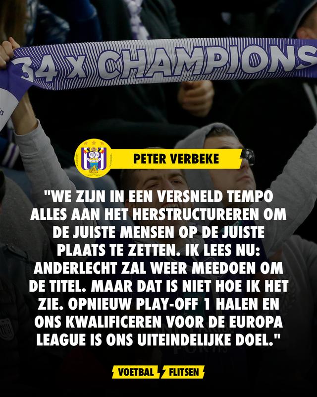 peter verbeke anderlecht ambities kampioen titel europa league