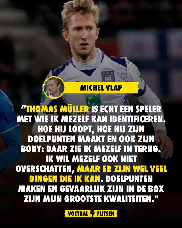 Michel Vlap ziet gelijkenissen met Thomas Müller