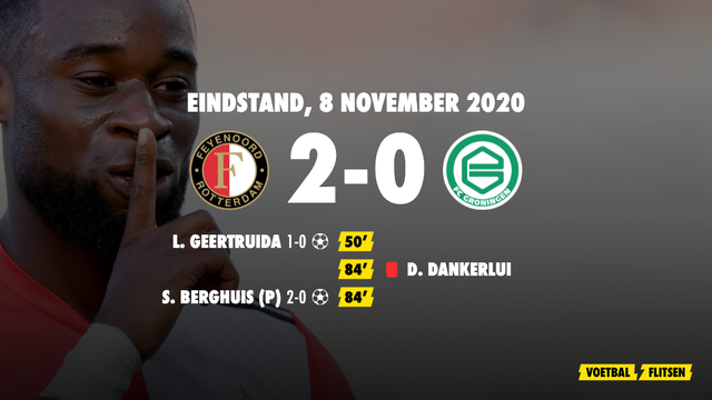 8 november 2020: Feyenoord-FC Groingen 2-0, eredivisie speelronde 8