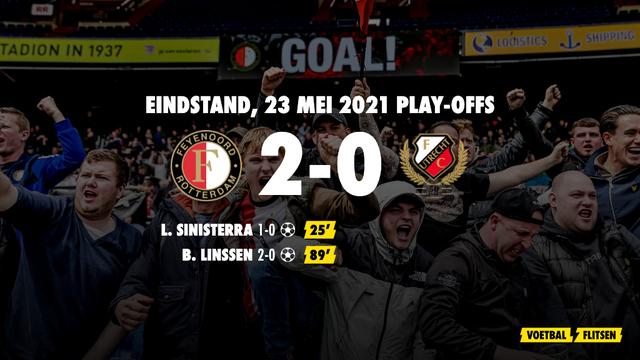 23 mei 2021: Feyenoord-FC Utrecht 2-0, finale play-offs ivm Conference League