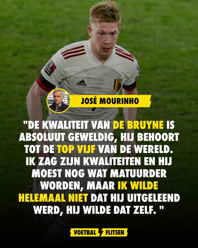 De Bruyne Kevin België rode duivels EURO2020 Jose mourinho