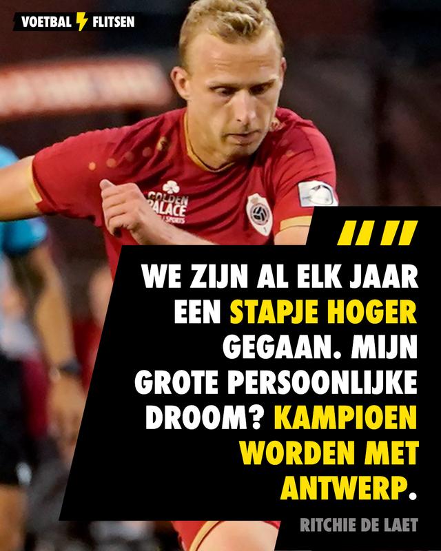Ritchie De Laet wil kampioen worden met Antwerp