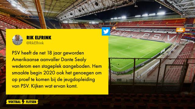 PSV haalt Amerikaanse aanvaller op proef naar Eindhoven